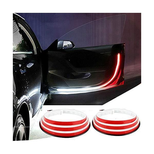 車ドア 警告灯 ドア追突防止警告灯 車 ドア 警告灯 LEDライト LED ドアランプ 衝突防止 追突防止 ストリップライト 安全サイドライト
