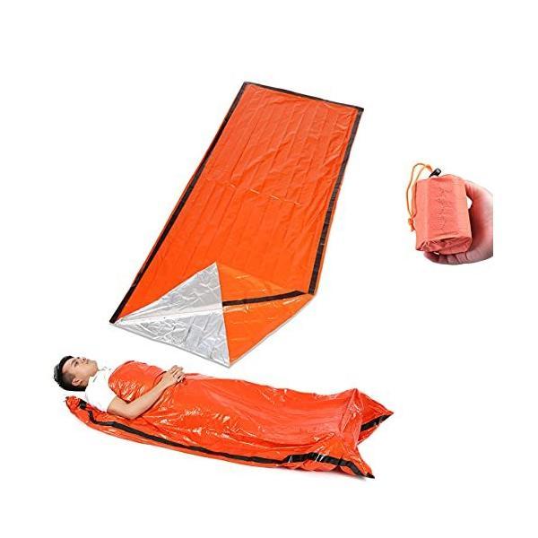 緊急 サバイバル 寝袋 シュラフ 防寒 防災 避難 保温 シート 地震 津波 対策 災害 特大 サイズ 軽量 200x90cm サバイバル寝袋 1個