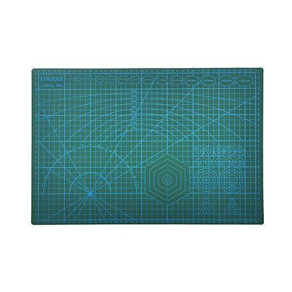 カッターマット A3 標準 両面カッティングマット 表面に滑止め採用 自己修復能力 デスクトップ保護 カッティングボードマット 450x300x3mm