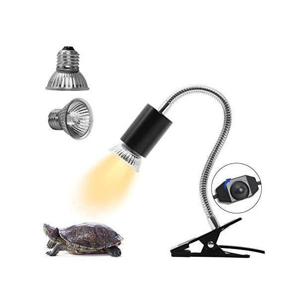 亀ライト 両生類用ライト 爬虫類ライト25W+50Wアナログ太陽 CHAUYI 熱帯・亜熱帯 UVA+UVBライト バスキングライト2つランプ付き