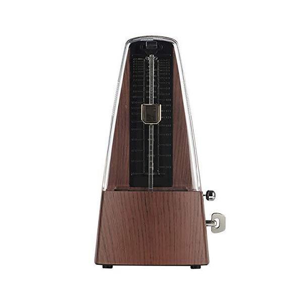 振り子メトロノーム 高精度 純銅機軸 大音量 ぜんまい式 ピアノ ギター ベース ドラム バイオリン メトロノーム テンポ 40-208bpm 木彫目