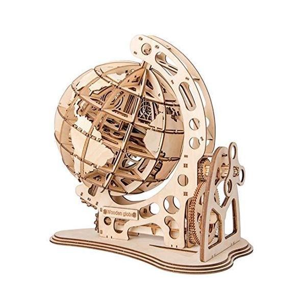 Leiasnow 木製パズル 地球儀 立体パズル 3Dパズル ウッドパズル 木のパズル? 組み立てキット 動くおもちゃ クラフト