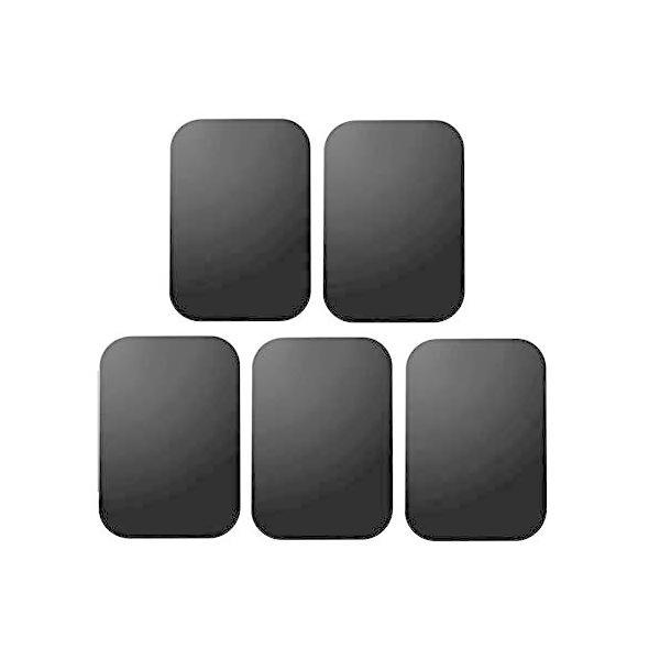 Access 【 5枚入 】車載ホルダー 替え用メタルプレート 車載マグネットホルダー用 3M製テープ付き ブラック AC1-S-BK5PA
