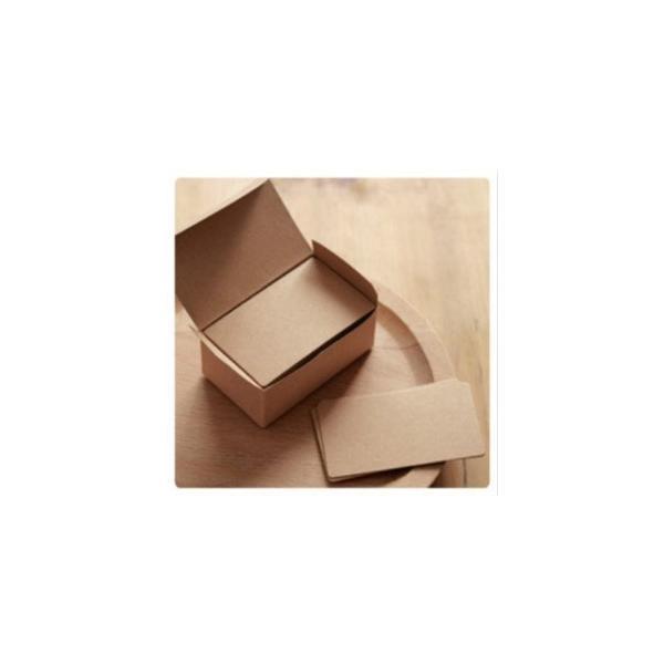 卸の店 メッセージカード クラフト紙 無地カード 荷札 ラベルタグ 無地用紙 100枚入り 茶色*計200枚
