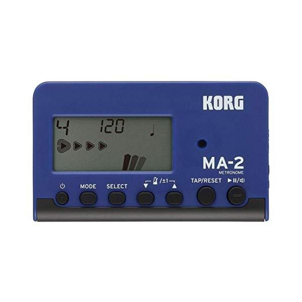KORG メトロノーム MA-2 ブルーブラック 吹奏楽 ブラスバンド オーケストラ ギター 声楽 アカペラ 100時間連続稼働 軽量 コンパクト