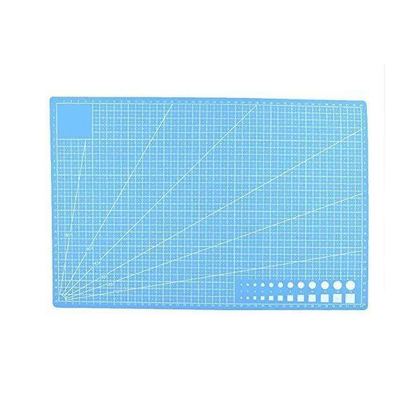 A3カッティングボード カッターマット 両面タイプ カッティングマット 業務用 事務作業 工作 造形 手芸(ブルー)