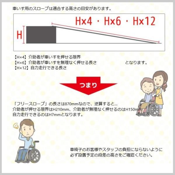 フリースロープ スロープ 軽量 持ち運び 段差 車椅子 バリアフリー ゴム 滑り止め 外出 階段 介助 YT-361|doanosoto|08