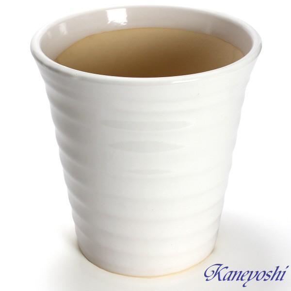 植木鉢 陶器 おしゃれ サイズ 25.5cm 安くて丈夫 フラワーロード 白釉 8号|docchan|02