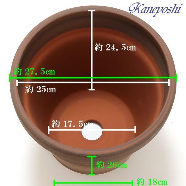 植木鉢 陶器 おしゃれ 鉢カバー サイズ 28cm 安くて丈夫 MEX メキシカン 9号 ブラウン|docchan|03