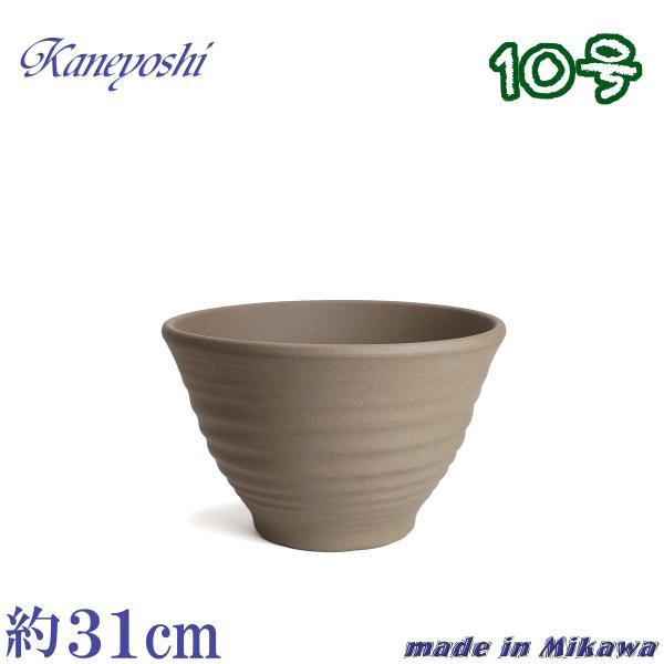 植木鉢 陶器 おしゃれ サイズ 31cm 安くて丈夫 フラワーポート モカ 10号 docchan
