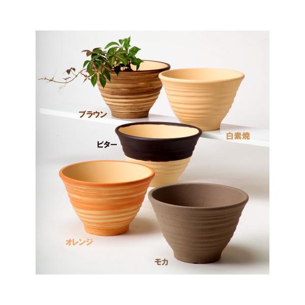 植木鉢 陶器 おしゃれ サイズ 31cm 安くて丈夫 フラワーポート モカ 10号 docchan 04