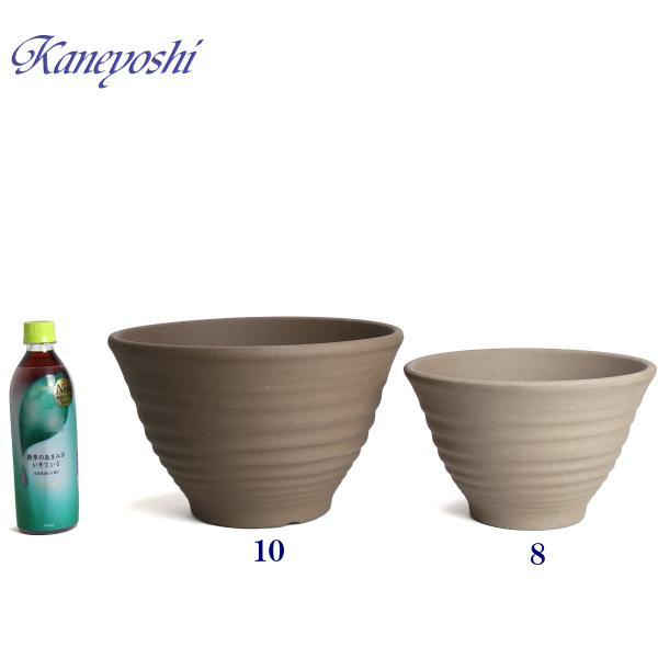 植木鉢 陶器 おしゃれ サイズ 31cm 安くて丈夫 フラワーポート モカ 10号 docchan 06