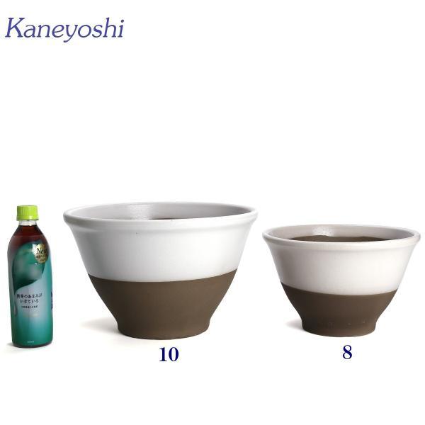 植木鉢 陶器 おしゃれ サイズ 31cm 安くて丈夫 アリア 白釉 10号|docchan|05
