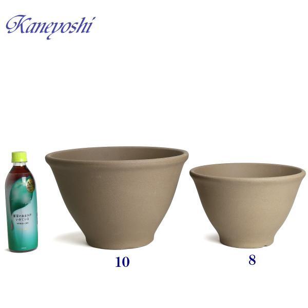 植木鉢 陶器 おしゃれ サイズ 25.5cm 安くて丈夫 フラワーボール モカ8号|docchan|05