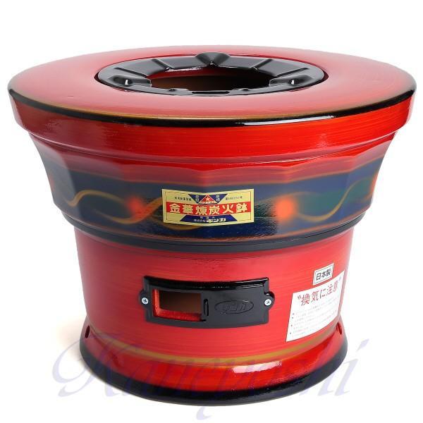 【送料無料】安心の日本製 心あたたまる レンタン火鉢 赤|docchan