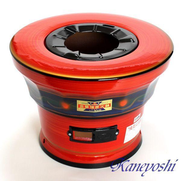 【送料無料】安心の日本製 心あたたまる レンタン火鉢 赤|docchan|02