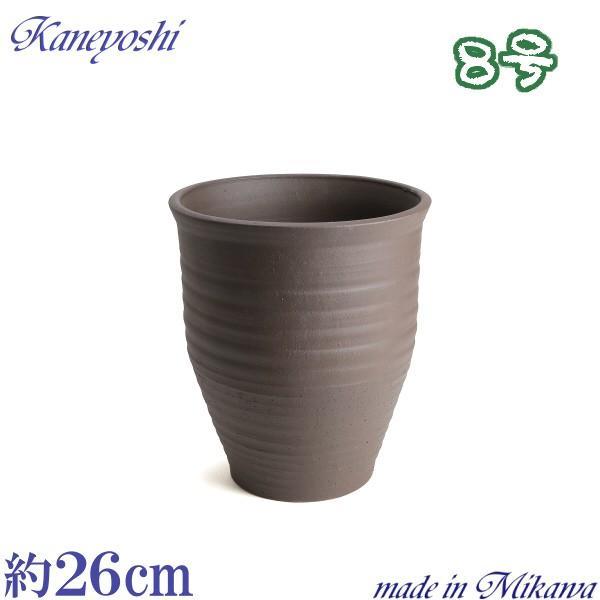 植木鉢 陶器 おしゃれ サイズ 25cm 安くて丈夫 PR ブラウン 8号 docchan