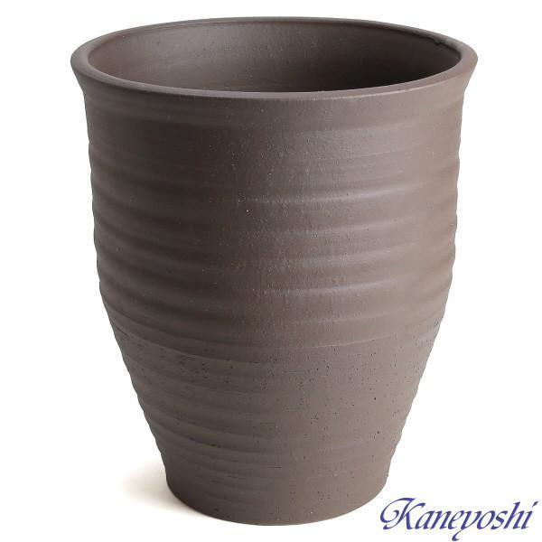 植木鉢 陶器 おしゃれ サイズ 25cm 安くて丈夫 PR ブラウン 8号 docchan 02