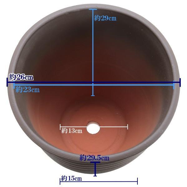 植木鉢 陶器 おしゃれ サイズ 25cm 安くて丈夫 PR ブラウン 8号 docchan 05