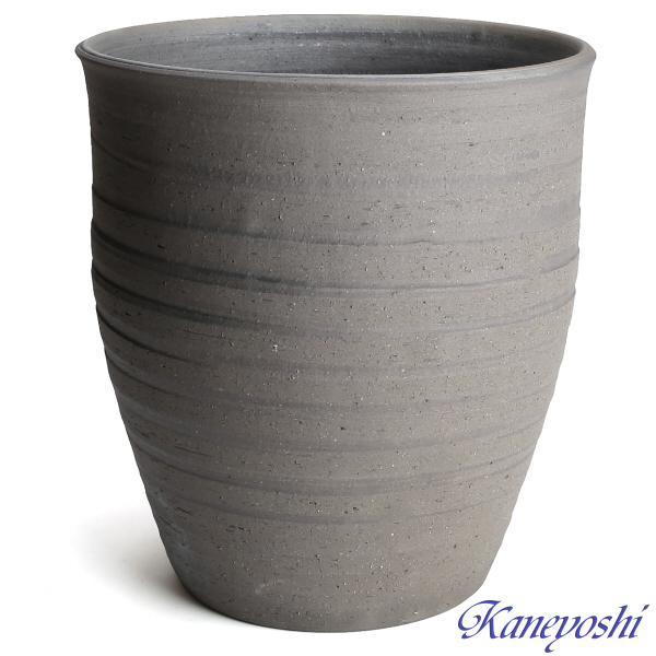 睡蓮鉢 めだか鉢 鉢カバー 植木鉢 陶器 おしゃれ 大型 サイズ 30cm 日本製 安くて丈夫 水瓶変型 10号 手造り エンシャント|docchan|02