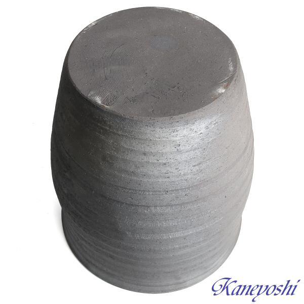 睡蓮鉢 めだか鉢 鉢カバー 植木鉢 陶器 おしゃれ 大型 サイズ 30cm 日本製 安くて丈夫 水瓶変型 10号 手造り エンシャント|docchan|04