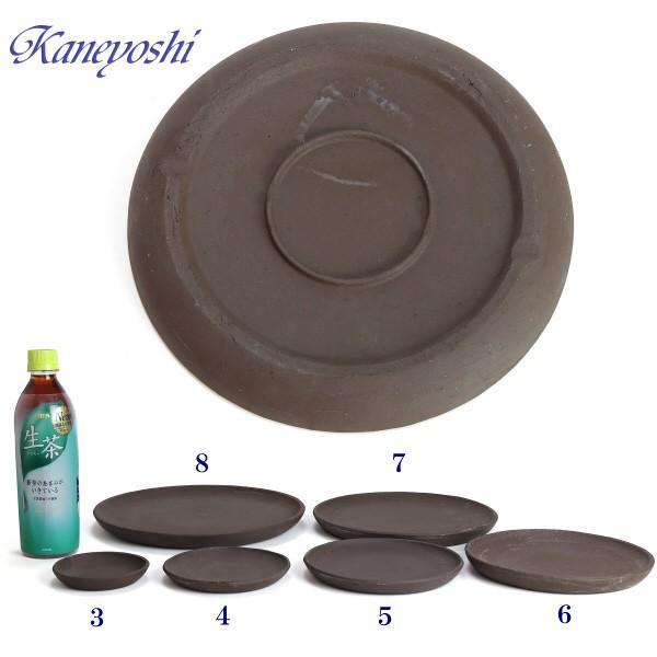 受け皿 植木鉢用 ソーサー おしゃれ 陶器 サイズ 24.8cm MZ受皿 コゲ茶 8号|docchan|03