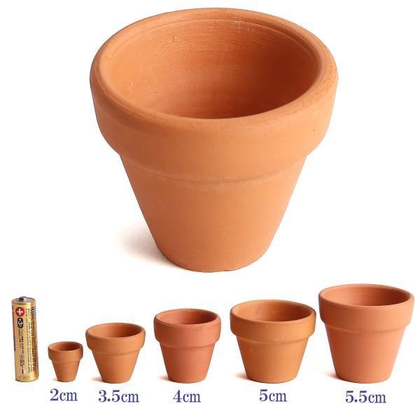 植木鉢 陶器 おしゃれ サイズ 4cm ミニミニテラコッタ|docchan|03