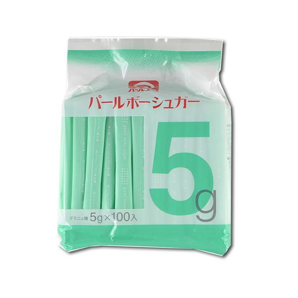 パールエース パールボーシュガー5グラニュ糖 500g(5g×100本)
