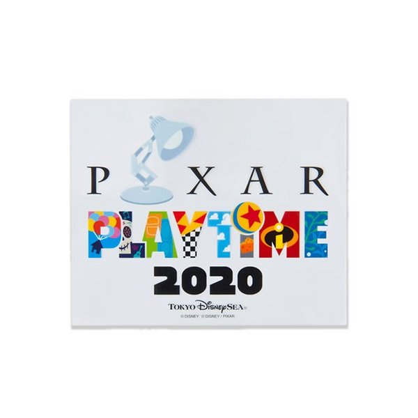 ステッカー メインデザイン ピクサープレイタイム2020 東京ディズニーシー限定