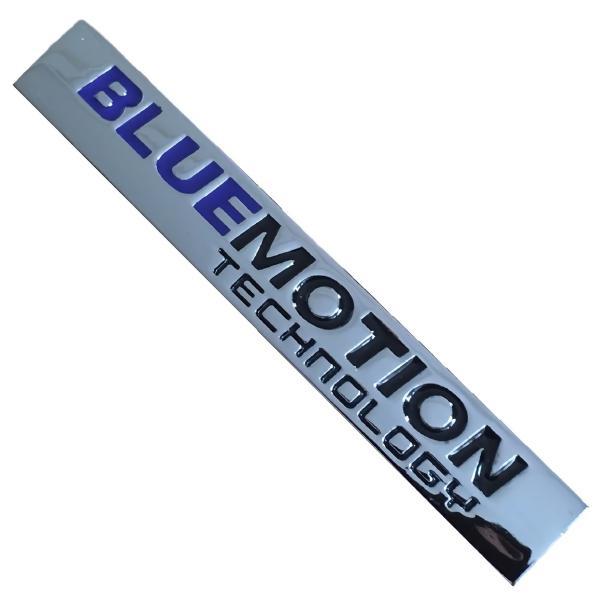フォルクスワーゲン 社外品 VW BlueMotion ブルーモーション 金属製 メタル エンブレム シール ステッカー