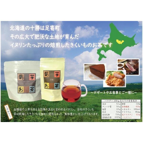 菊芋焙煎茶 3g×10包 6袋 イヌリンはごぼう茶の15倍 北海道十勝産 キクイモ 100%使用 ダイエット茶 便秘茶