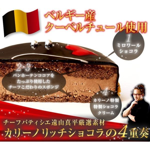 クリスマス ギフトランキング プレゼント スイーツ 漆黒のチョコラータ12cm(冷凍便)|dolcediroccacarino|02