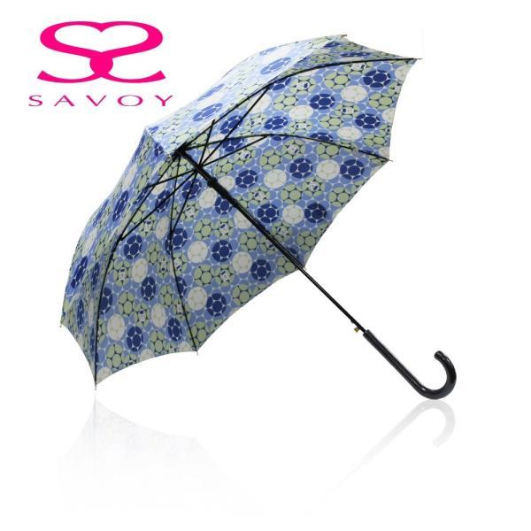 SALE サボイSAVOY31-6045バルーンベアプリント60cmジャンプ傘クマくま柄傘ブルー