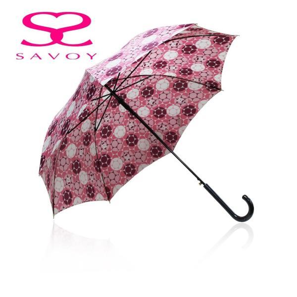 SALE サボイSAVOY31-6045バルーンベアプリント60cmジャンプ傘クマくま柄傘ピンク
