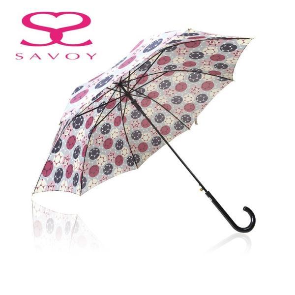 SALE サボイSAVOY31-6047バルーンベアプリント60cmジャンプ傘クマくま柄傘ピンク*グレー