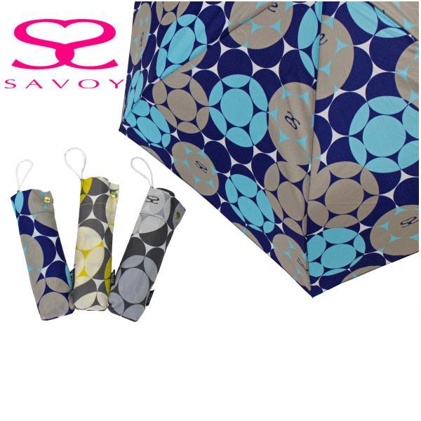SALE サボイSAVOY折り畳み傘62-507750cm50センチバルーン柄ミニプレゼントにおすすめレディース