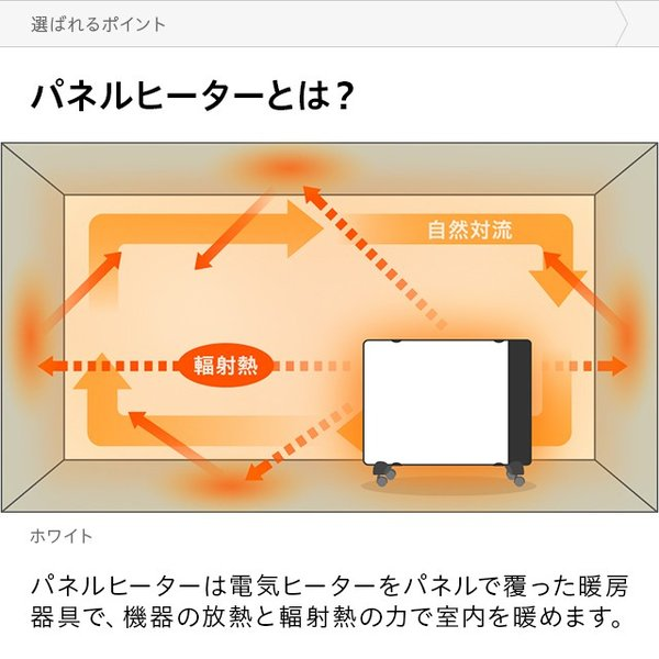 パネルヒーター 暖房器具 薄型 スリム コンパクト タイマー付き 遠赤外線パネル 電気ヒーター don2 04
