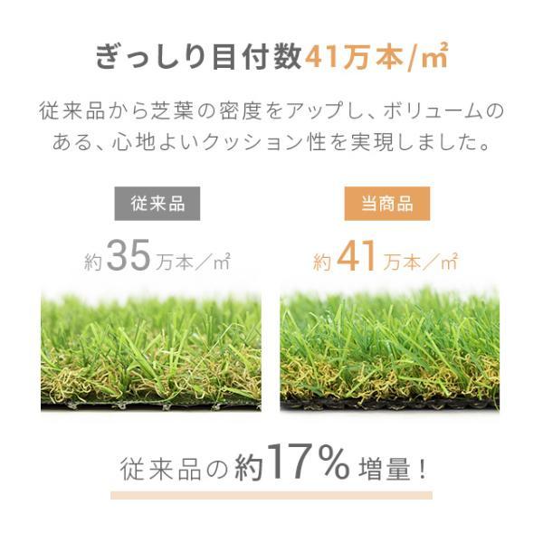 人工芝 ロール リアル人工芝 芝生 ロールタイプ 2m×5m 芝生マット|don2|06