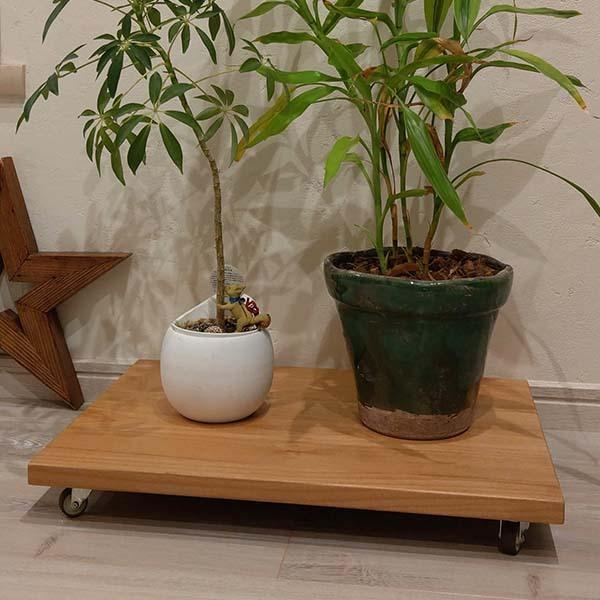 プランター キャスター ワイドタイプ プランター台 プランターベース プランタースタンド ガーデニング 植物 観葉 木製 キャスター付  送料無料