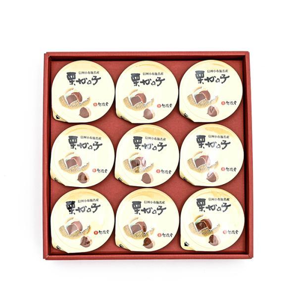 竹風堂栗鹿の子 鹿ノ子 竹風堂栗かの子小形9個入、信州長野県小布施のお土産