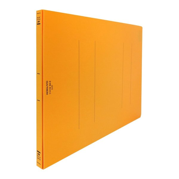 KOKUYO コクヨ フラットファイル PP表紙 樹脂製とじ具 2穴 B4横 150枚収容 オレンジ フ-H19YR × 10冊