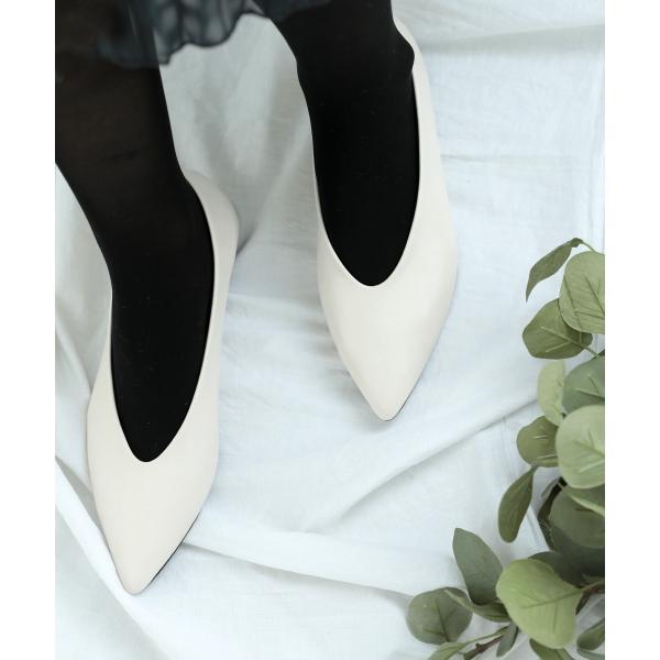 シューズ Vカットフラットパンプス  レディース バレエシューズ くつ 靴 フラットシューズ ポインテッドトゥ DONOBAN SELECT