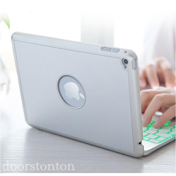 バックライト付き キーボードケース iPad Pro 10.5 iPad pro9.7 2017 pro9.7  キーボード iPad5 ipad6  耐衝撃 Bluetooth アルミ 光るキーボード doorstonton 06