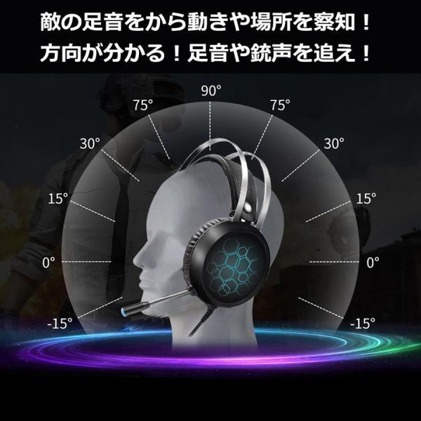 ゲーミング ヘッドセット ヘッドホン フォートナイト ボイチャ 任天堂 ニンテンドースイッチ nintendo switch PS4 PC ゲーム ゲーミング FPS マイク付き LED dorarecoya 02