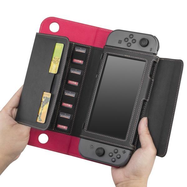 ニンテンドースイッチ ケース スタンド機能 カバー 任天堂 switch ケース 高級レザー製 全面保護 贈り物 ギフト Nintendo Switch 手帳型 保護フィルム|dorarecoya|08