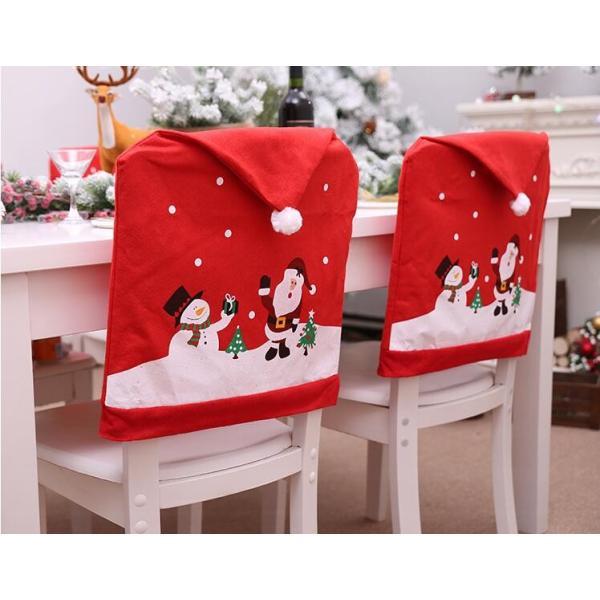 クリスマス 椅子 背もたれ カバー トナカイ 椅子カバー チェアカバー 装飾 サンタ 雪だるま 飾り クリスマス飾り パーティー 家族クリスマス 雑貨 装飾