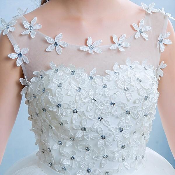 送料無料 ウェディングドレス/ドレス/結婚式/二次会/ホワイト/花嫁/ウェディング/エンパイア/白ドレス/ロングドレス/披露宴|doremoc|03