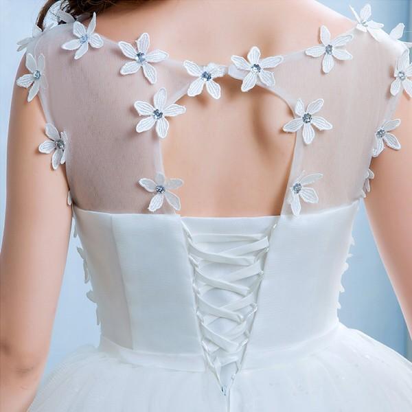 送料無料 ウェディングドレス/ドレス/結婚式/二次会/ホワイト/花嫁/ウェディング/エンパイア/白ドレス/ロングドレス/披露宴|doremoc|04