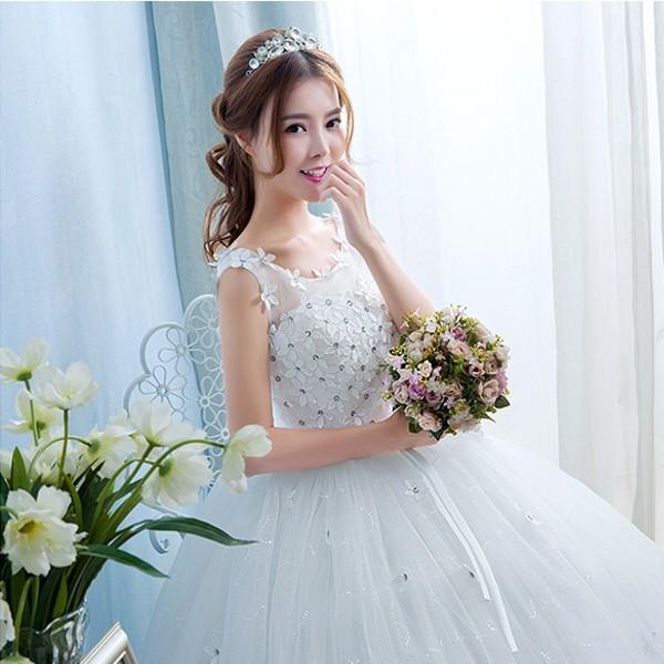 送料無料 ウェディングドレス/ドレス/結婚式/二次会/ホワイト/花嫁/ウェディング/エンパイア/白ドレス/ロングドレス/披露宴|doremoc|09