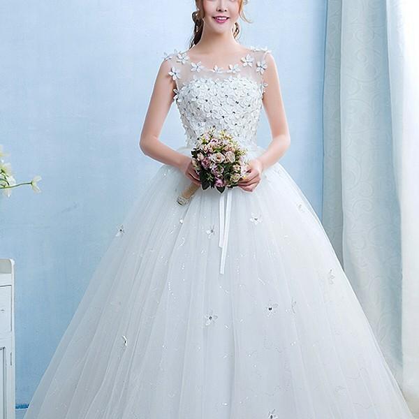 送料無料 ウェディングドレス/ドレス/結婚式/二次会/ホワイト/花嫁/ウェディング/エンパイア/白ドレス/ロングドレス/披露宴|doremoc|10